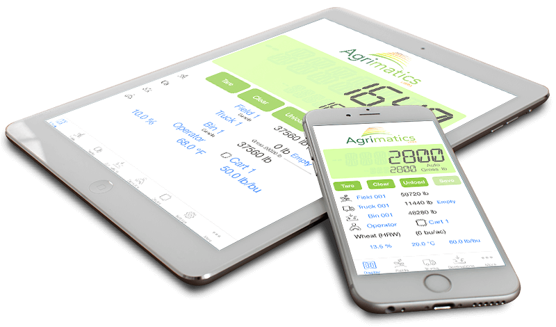 Agrimatics Libra app running on tablet and phone